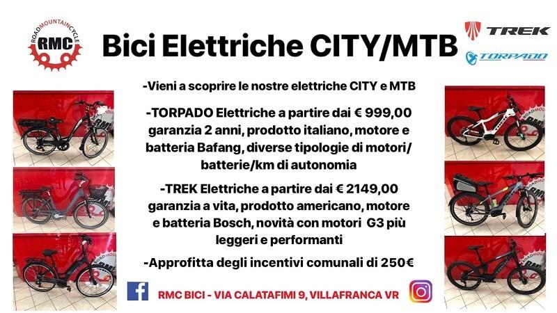 Bici elettriche city bike e MTB montain bike Verona E-bike - RMC negozio di bici Verona Villafranca