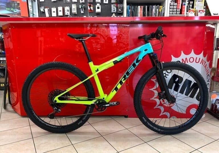 Trek SUPERCALIBER NX 9.7 2020 - MTB Bici Mountain Bike Verona - Colore gialla e blu