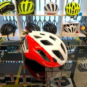 Met Espresso Bianco_Rosso. Casco bici da strada. Caschi bici da corsa. RMC negozio bici Verona