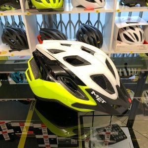 Met Funandgo Giallo_Nero_Bianco - Casco MTB. Caschi bici Mountain Bike. RMC negozio biciclette Verona