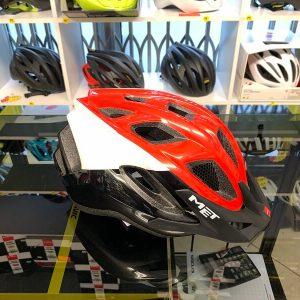 Met Funandgo Rosso_Nero_Bianco - Casco MTB. Caschi bici Mountain Bike. RMC negozio biciclette Verona