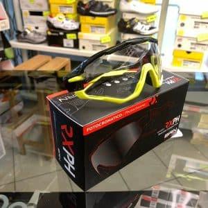 Occhiale BRN Fotocromatici nero e giallo - Accessori per andar in giro in bici. RMC negozio biciclette Verona