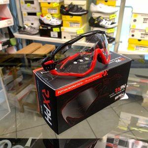 Occhiale BRN Fotocromatici nero rosso - Accessori per andar in giro in bici. RMC negozio biciclette Verona