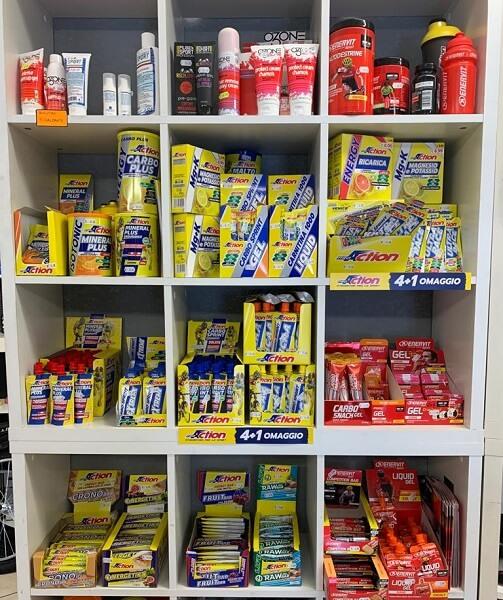 Barrette energetiche, gel, integratori PRO ACTION & ENERVIT Verona. RMC negozio di Bici