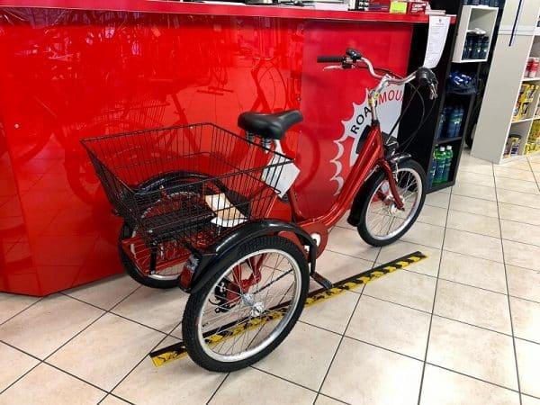 Triciclo elettrico Brera 20 rossa. City Bike Verona. Bici per città. RMC negozio di biciclette.