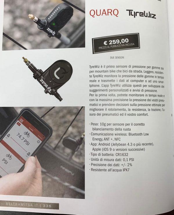 Sensore di pressione intelligente. Accessori per biciclette Verona. RMC negozio di bici Verona