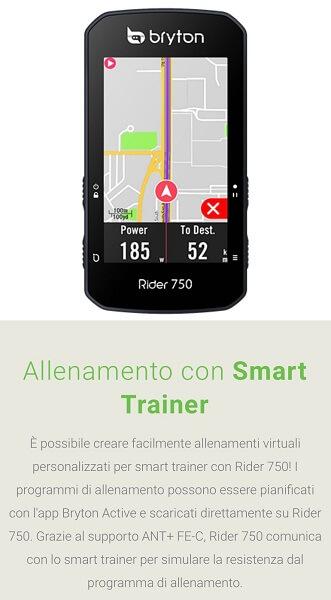 Bryton Rider 750, ciclo computer GPS touchscreen. Accessori per bici Verona. RMC negozio biciclette