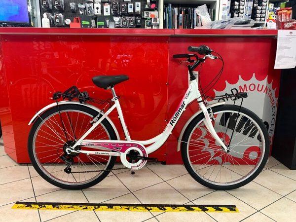 "City Bike Rollmar Celine 26"" bianca. City Bike Verona. Bici per città. RMC negozio biciclette Verona"