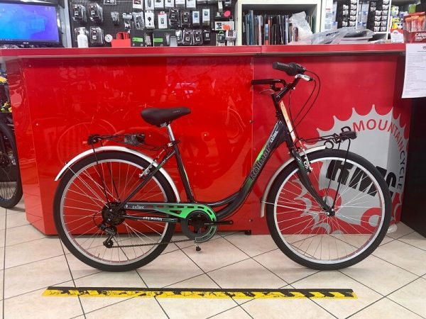 "City Bike Rollmar Celine 26"" verde City Bike Verona. Bici per città. RMC negozio biciclette a Verona"