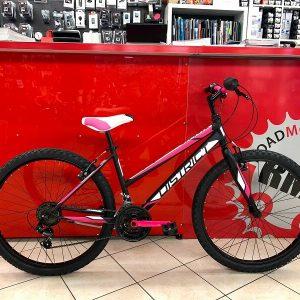 """MTB donna 26"""" Distric nera e fuxia. Bici MTB Mountain Bike Verona. RMC negozio di biciclette Verona"""