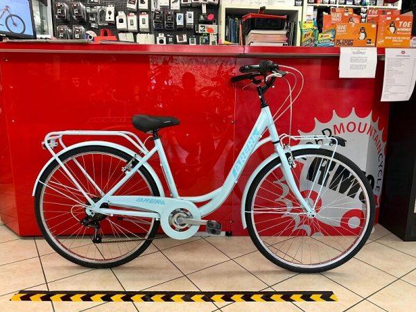 """Brera Meneghina 26"""" azzurra. City Bike donna a Verona. Bici per città. RMC negozio biciclette Verona"""