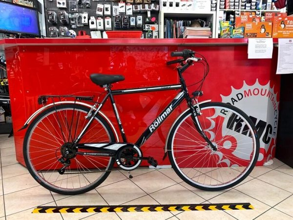 """City Bike Rollmar 28"""" nera. City Bike Verona. Bici per città. RMC negozio biciclette a Verona"""