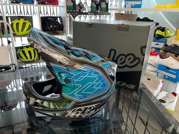 Casco Troy Lee Designs D4 Fiber Blu. BMX e MTB DH Downhill Verona
